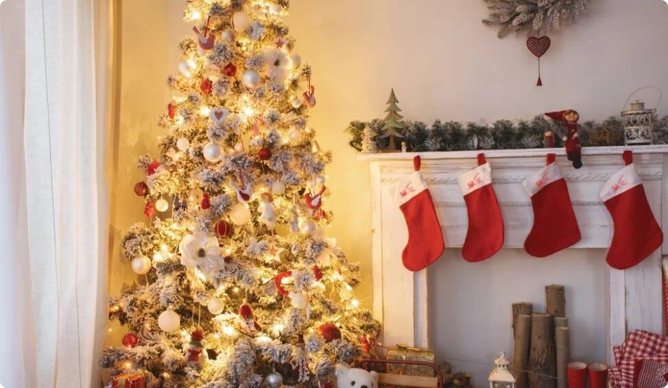 Custom christmas ornaments banner