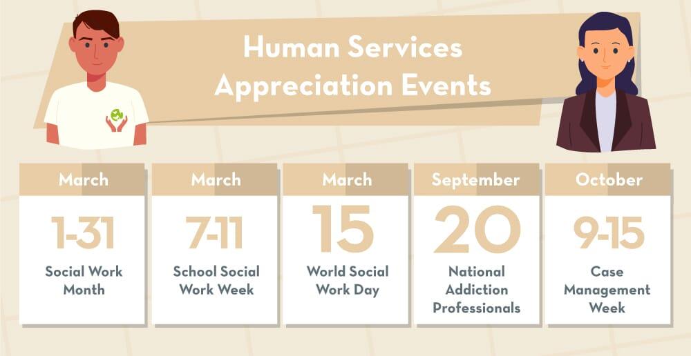 Human services appreciation days calendar