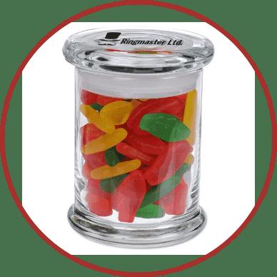 Candy Jar with Swedish Fish
