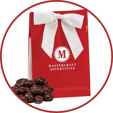 Gourmet Gift Bag – Chocolate Covered Almonds
