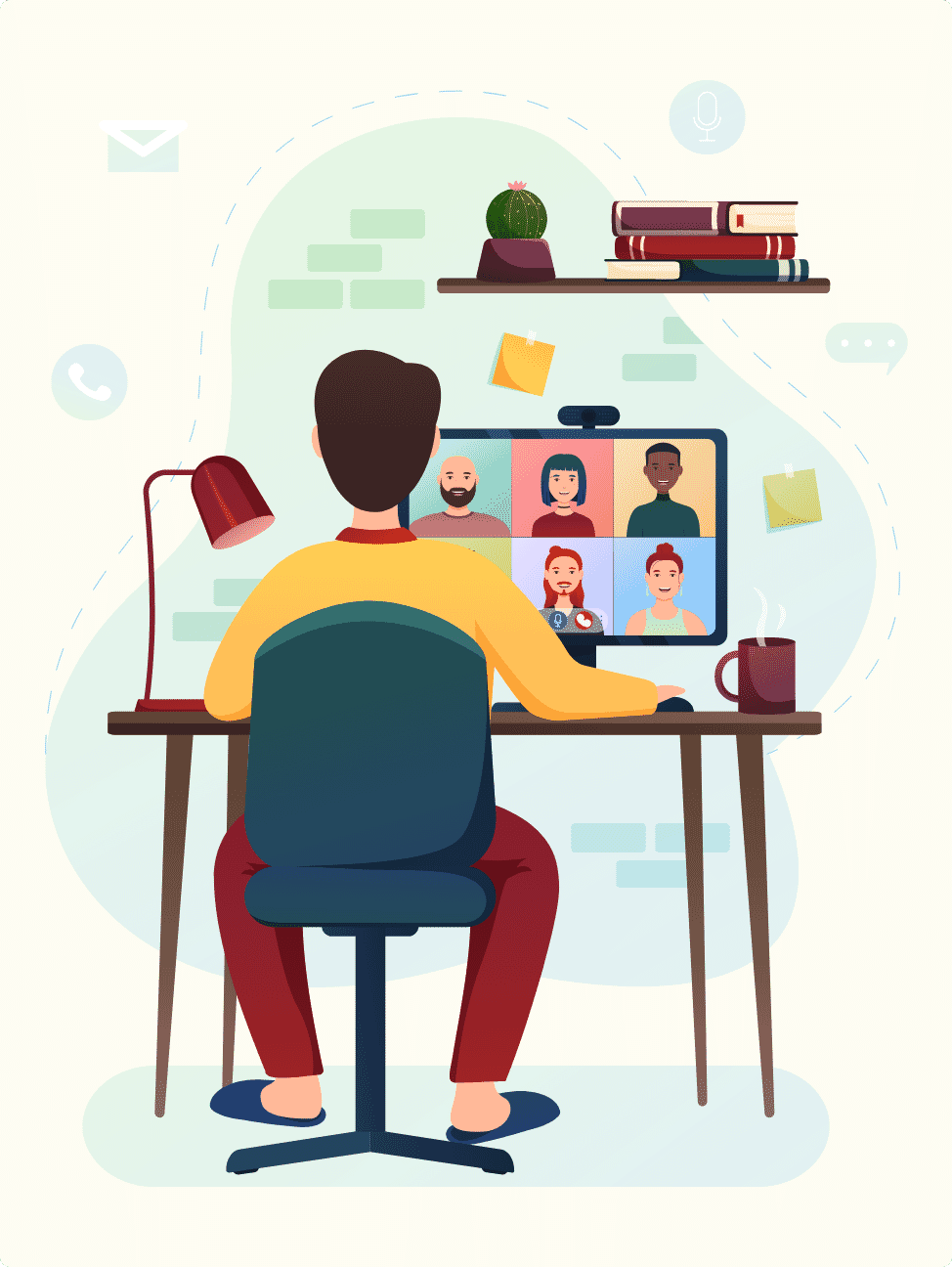 Implement mental health coping strategies for remote employees