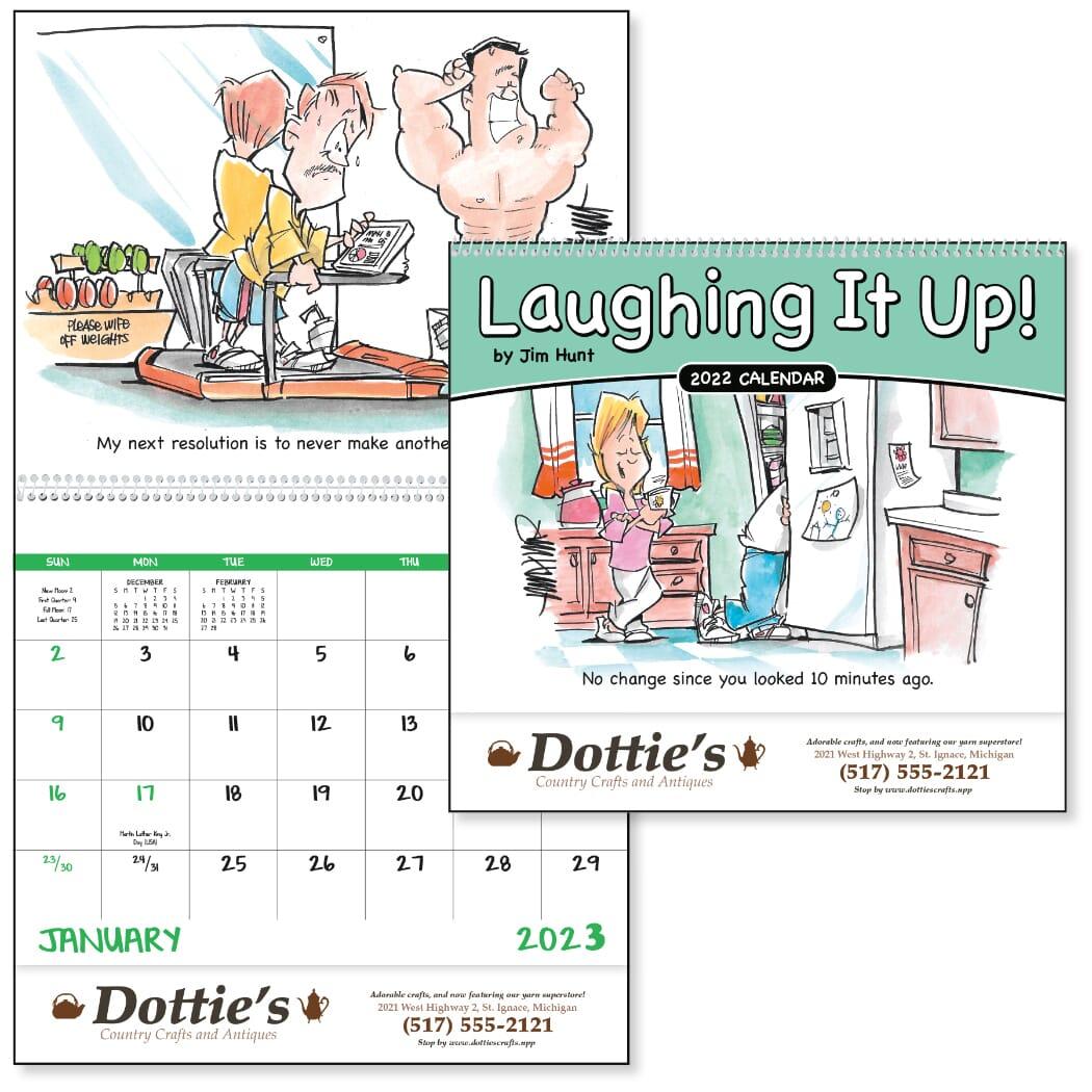 wall calendar with funny comics