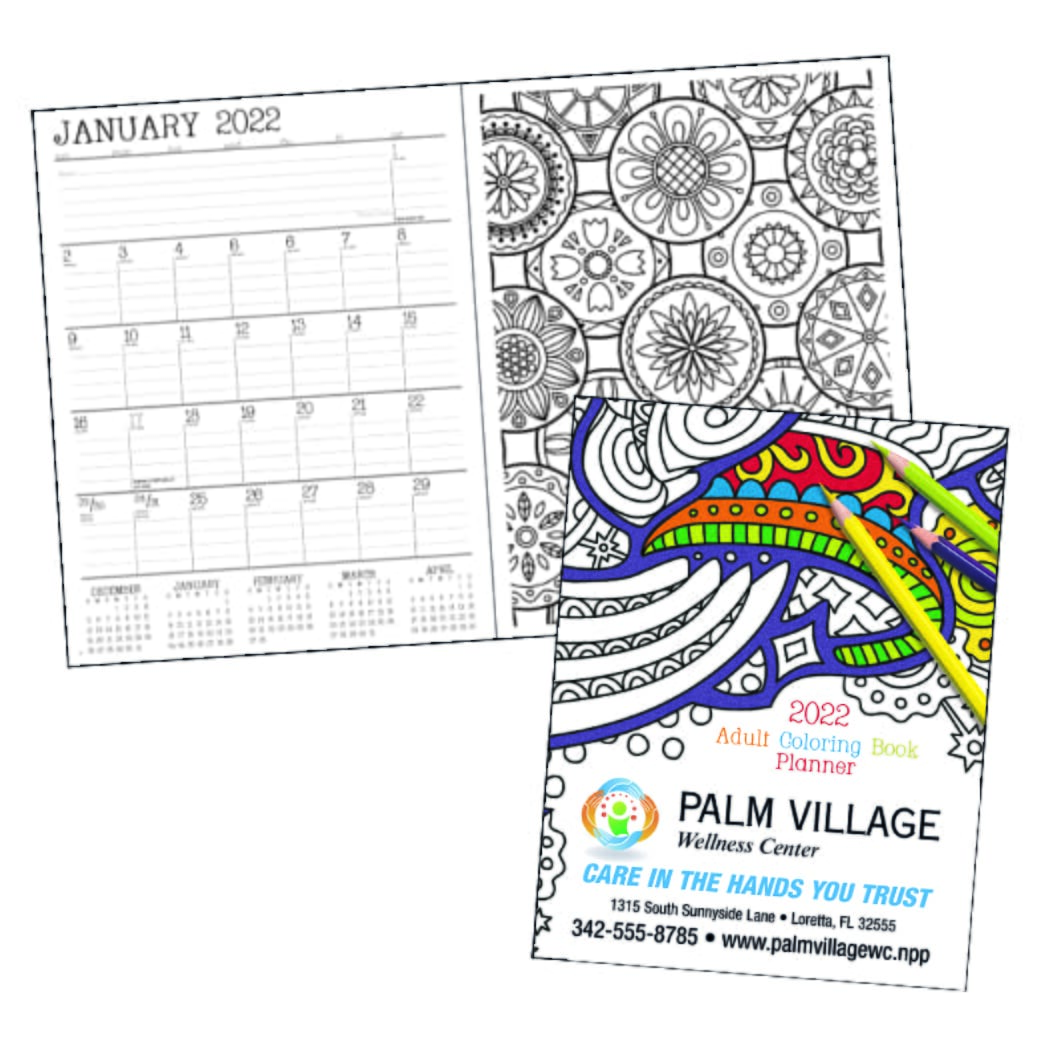 monthly planner with coloring pages