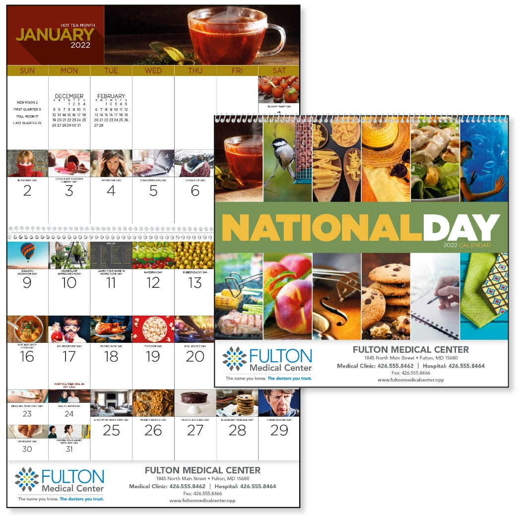 wall calendar with holidays
