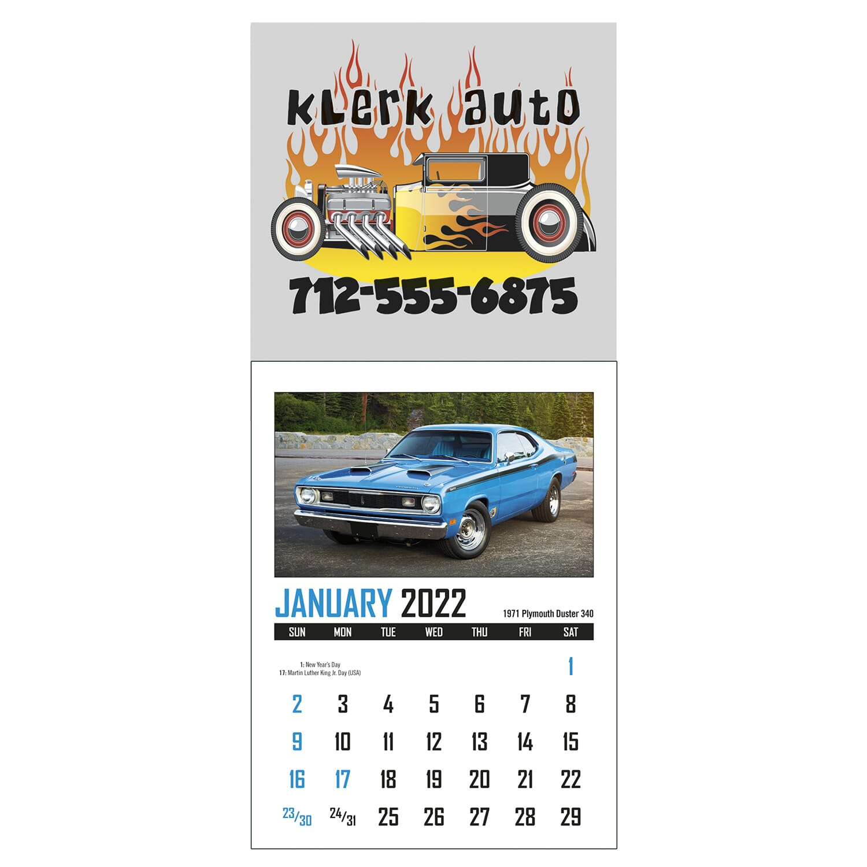 sticky mini wall calendar