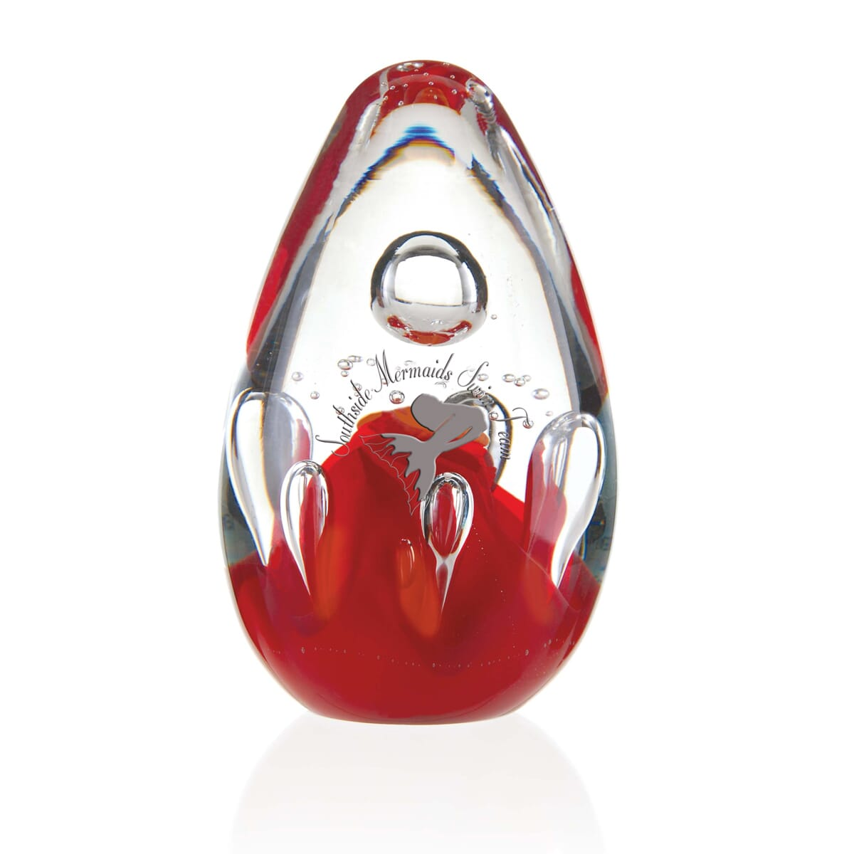 Red lava jaffa art glass award