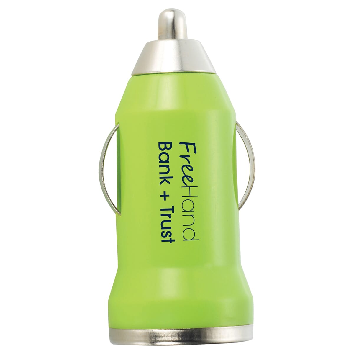 Mini car usb charger with logo
