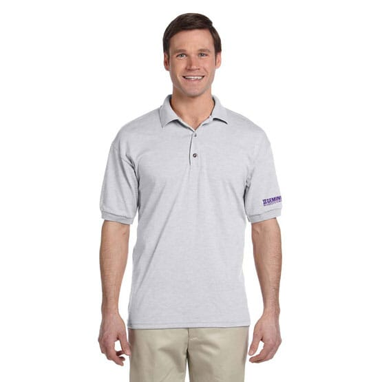 Golf Polo with Logo on Cuff