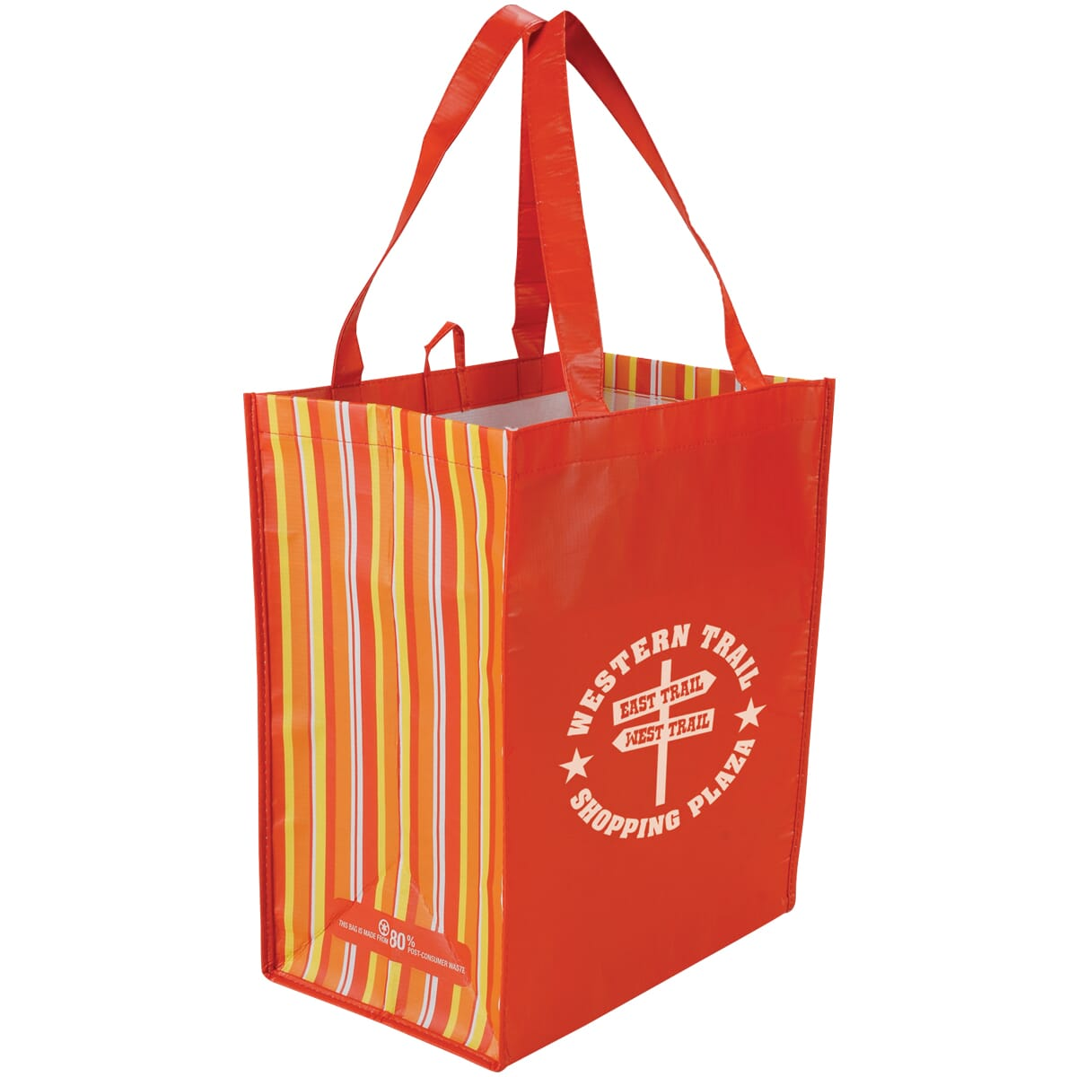 red and orange eco friendly reusable tote bag