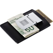 Zippo leather spring loaded money clip