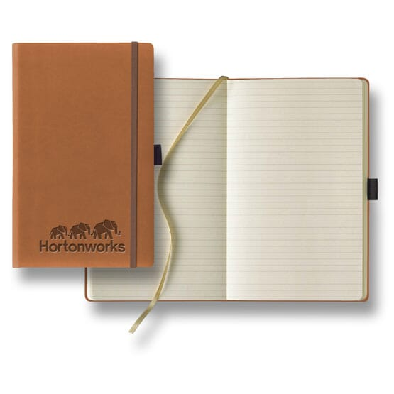 Faux leather bound journal with ivory pages