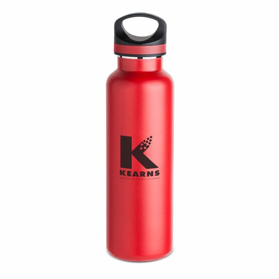 Red 20 oz Insulated Water Bottle