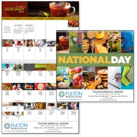 2021 National Day Calendar - Spiral