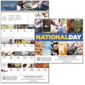 2021 National Day Calendar - Spiral