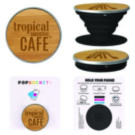 Wood PopSockets® Grip - Bamboo