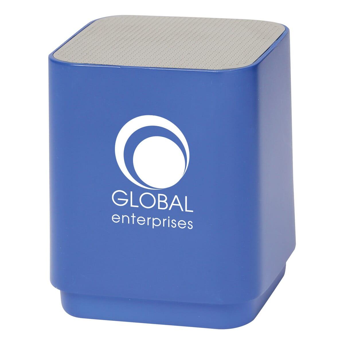 Bluetooth speaker with light-up logo